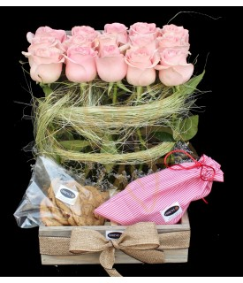 Pink Roses, Cookies & Truffles