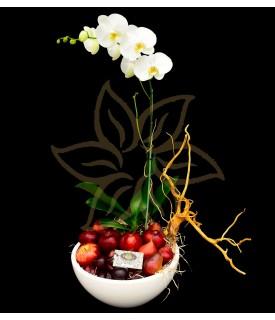 Orquidea con fruta