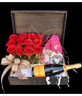 Caja de regalo con Champagne
