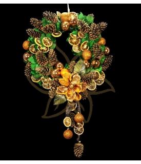 Dried Fruit Christmas Wreath