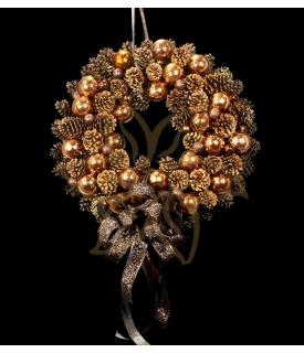 Chocolate Pinecones Christmas Wreath