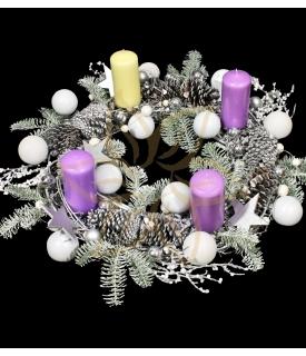 White Christmas Advent Wreath