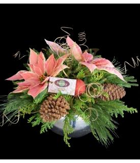 Poinsettia Flowers Centerpiece