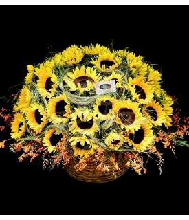 Sunflowers Basket