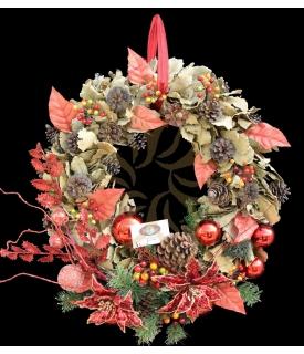 Oak Leaves Christmas Wreath