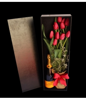 Tulips & Champagne in box