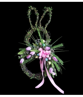 Conejo de Pascua Rosa