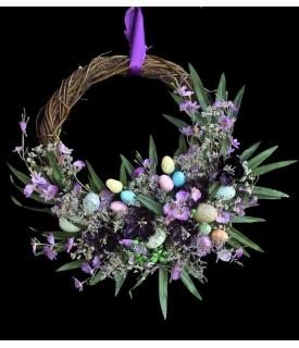 Corona de Pascua Violeta