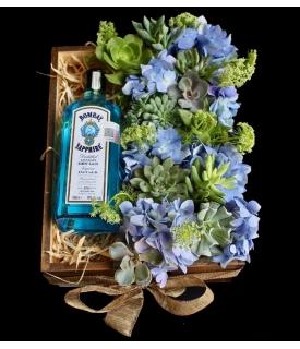 Bombay con flores