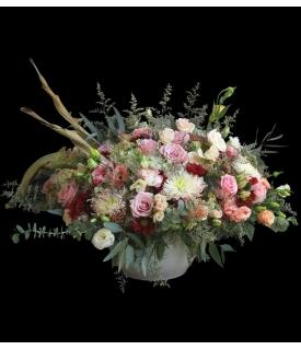 Diseño de rosas romántico