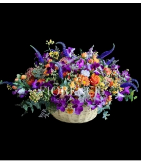 Rainbow Deluxe Flower Basket